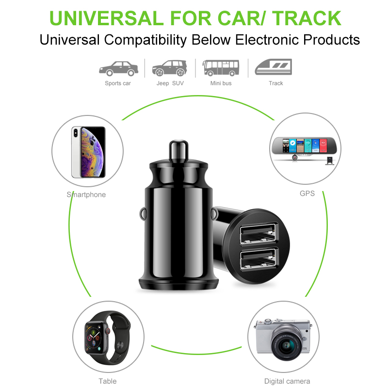 Image 5 - Coolreall Mini USB Car Charger Adapter 3.1A With  Digital LED Display Universal Dual USB Phone Car Charger for Samsung iPhone-in Car Chargers from Cellphones & Telecommunications