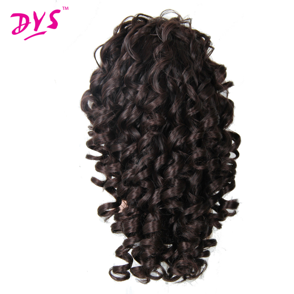 Deyngs 20inch Kinky Curly Claw i Ponytail Hair Extensions Fake Hair Pony Tail Hair Piece Röd / Svart / Brun Tress 3 Colors