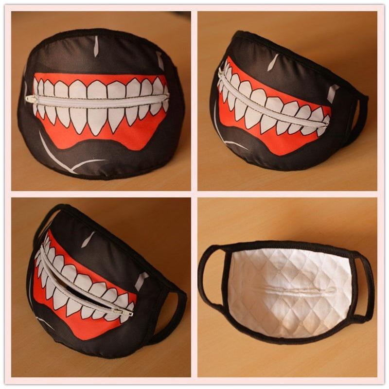 Image 5 - Takerlama Kaneki Ken Face Masks Zipper Cycling Anti Dust Anime  Tokyo Ghoul Cosplay Maskmask zippermask maskmask face mask -