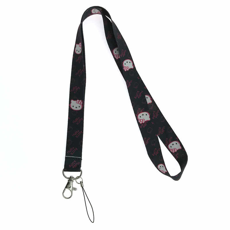 5c86768b4 ... EUPNHY 1Pcs Hello Kitty Cell Phone Keys Neck Strap Lanyard ID Holder  Cartoon Lanyards Randomly Send
