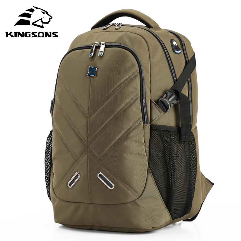 Kingsons Laptop Notebook Bag Men Backpack Large Capacity Top Quality School Bag Teenager Boy Rucksack Mochila Escolar kingsons 2017 large capacity 15 6 inch laptop backpack men business bag women school travel rucksack high quality daily pack