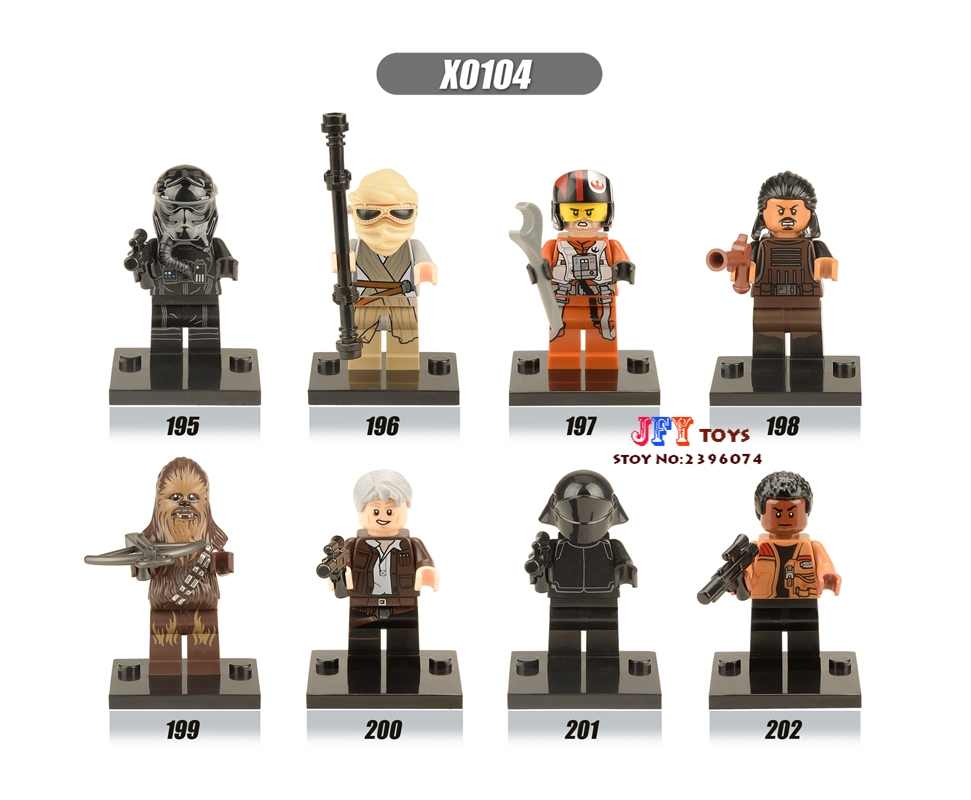 8pcs star wars super heroes The FORCE AWAKENS Rely Finn Storm Trooper CHEBBA building blocks bricks toys for children juguetes single sale super heroes thor star wars the force awakens bricks building blocks education learning toys for children xh 004