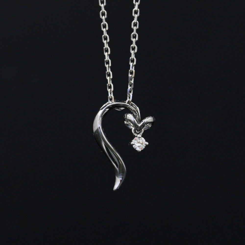 Halo 0.05CT 18k Gold Round Cut Square Center Pave Set Natural Diamond Pendant Necklace Chain Women Fine Jewelry