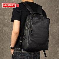 Оригинальный в стиле ретро из натуральной кожи Для мужчин рюкзак из натуральной коровьей кожи большой Ёмкость рюкзак Для мужчин ноутбук рю