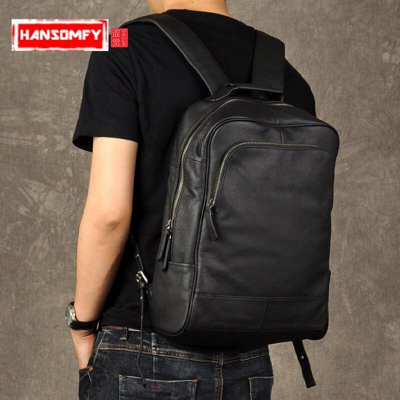 Bagaj ve Çantalar'ten Sırt Çantaları'de Orijinal hakiki Deri Retro Erkekler sırt çantası gerçek inek Deri Büyük Kapasiteli sırt çantası erkek laptop sırt çantası iş omuz çantaları'da  Grup 1