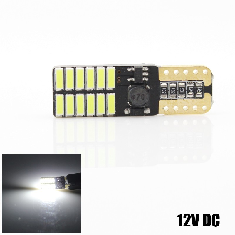 4x COB 24SMD 4014 T10 <font><b>Led</b></font> Canbus <font><b>W5W</b></font> Error Free <font><b>12V</b></font> <font><b>5W</b></font> Car Turn Signal Indicator Light Parking Lamps Side Wedge Clearance Lights image