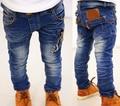 2017 Детей джинсы дети одежда износ мальчик причинные длинные джинсы мальчиков ковбойские брюки дети брюки продается kk-кролика