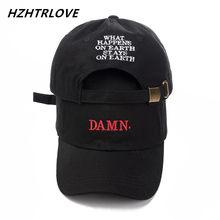 Di alta Qualità Rapper Kendrick Lamar Dannatamente Protezione di Snapback  Del Ricamo DANNATAMENTE Papà Cappello Donna e7060645394a