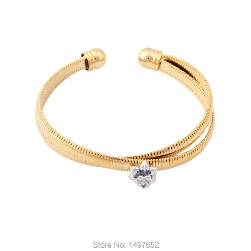 7490ec65de68 Aliexpress.com  Comprar Color oro Brazaletes y pulseras para las mujeres  hombres unisex regalo moda joyería India Brazaletes pulsera envío gratis de  bangle ...