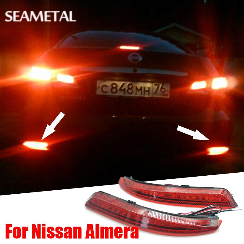 Prix pour Car Styling Pare-chocs Arrière LED Feux de Freinage D'avertissement Lumières Pour Nissan Almera 2013 2014 2015 Super Lumineux Accessoires