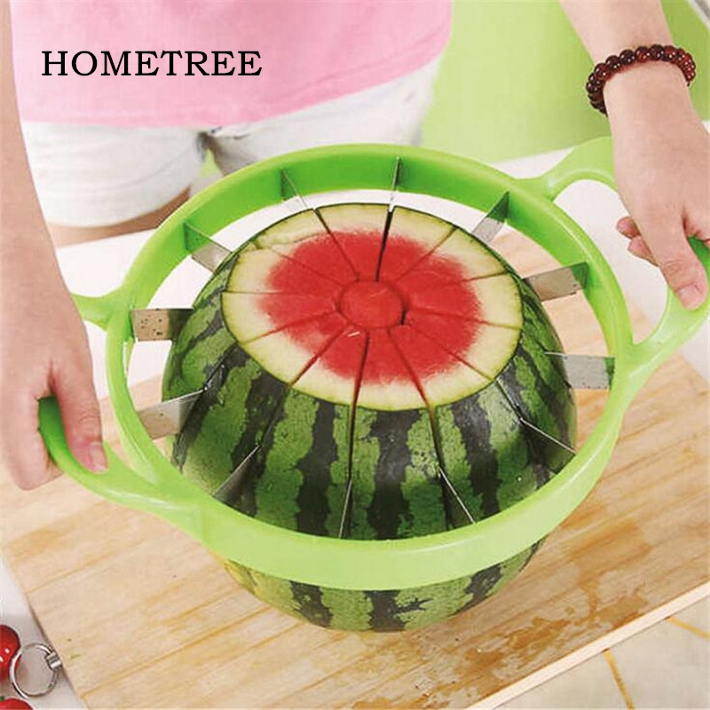 HOMETREE Kitchen Practical Tools Creative Watermelon Slicer Melon Cutter Knife 410 stainless steel Fruit Fast Cutting Slicer H16