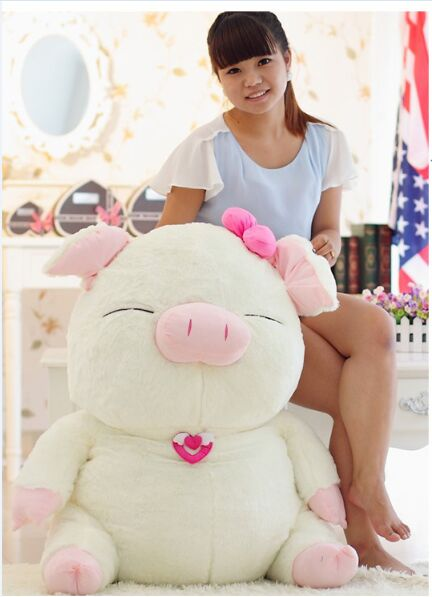 new style huge 100cm cute cartoon pig plush toy soft doll hugging pillow Christmas gift b2019new style huge 100cm cute cartoon pig plush toy soft doll hugging pillow Christmas gift b2019