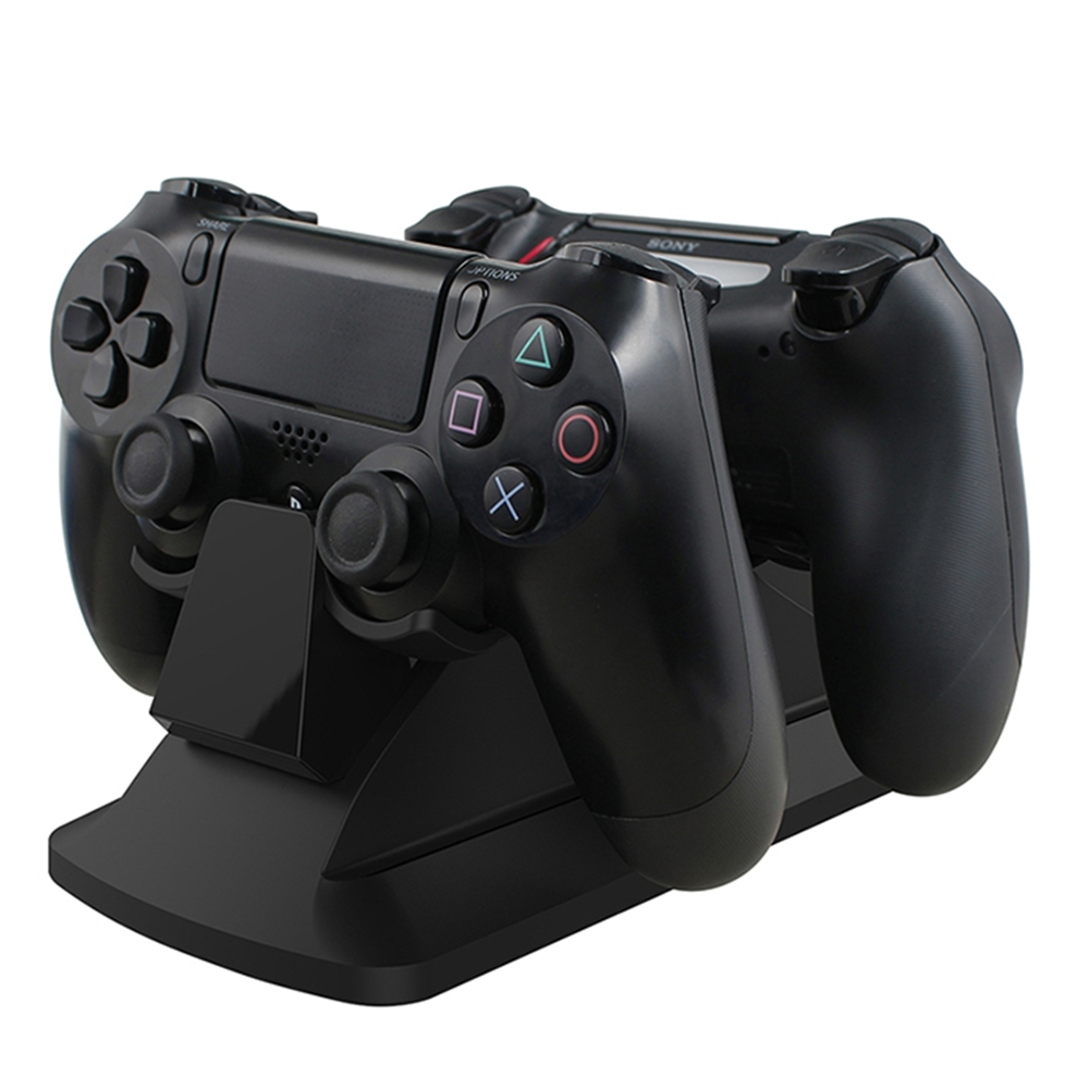 GameSir W60P190 Dual Charging Dock Gamepad Charging Station Stand with Power Supply for PS4 / PS4 Slim / PS4 Pro