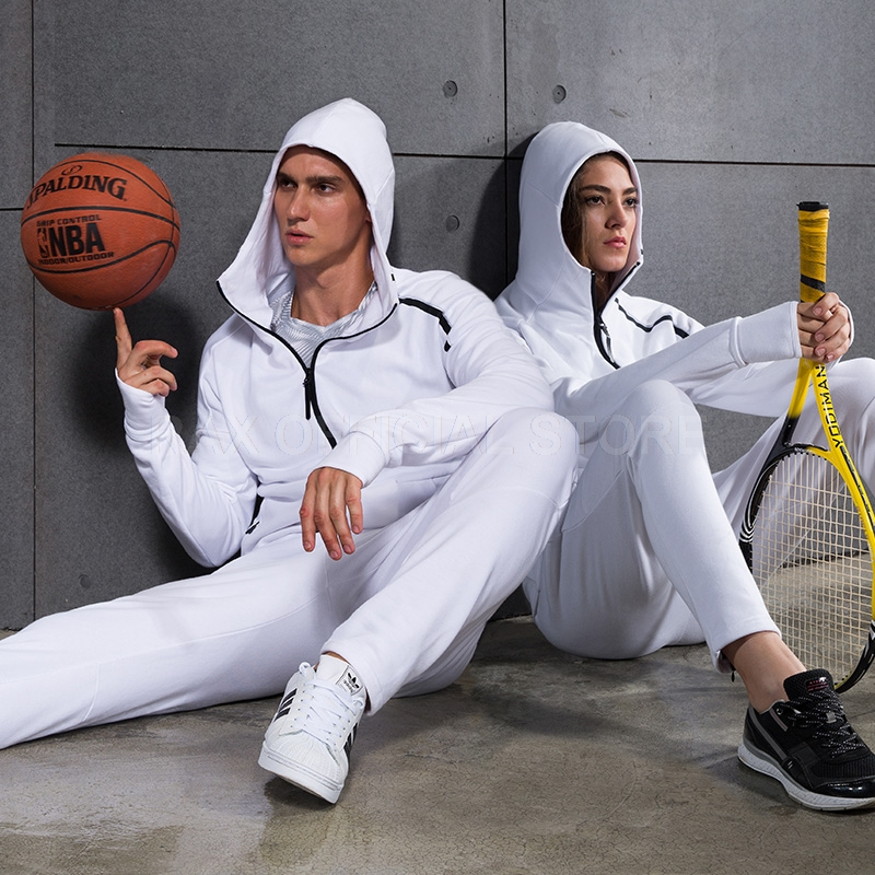 Outdoor men sports basketball running clothes sets jogger cardigan male runner fitness exercise hooded sweater couple suit wosawe men compression tights cycling base layer running fitness workout gym clothes long johns sports pant jersey suit