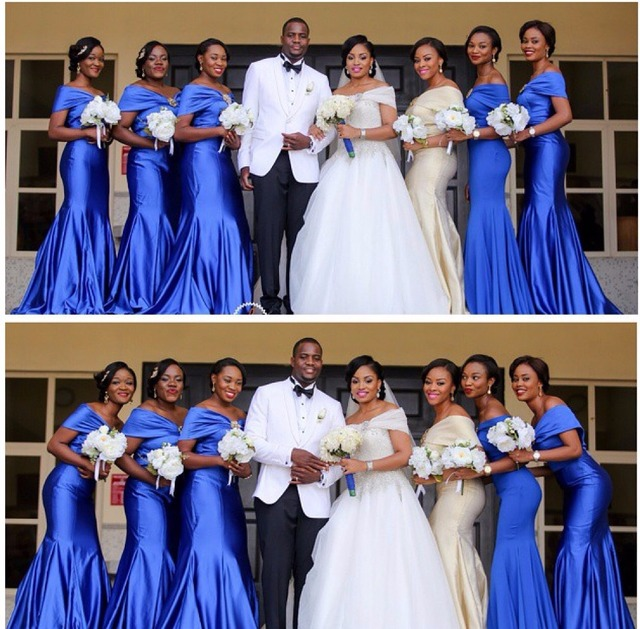 3f30f5b4a7 Modest Champagne Royal Blue Bridesmaid Dress Mermaid Floor Length 2016 Plus  Size Wedding Guest Dresses vestido de madrinhas