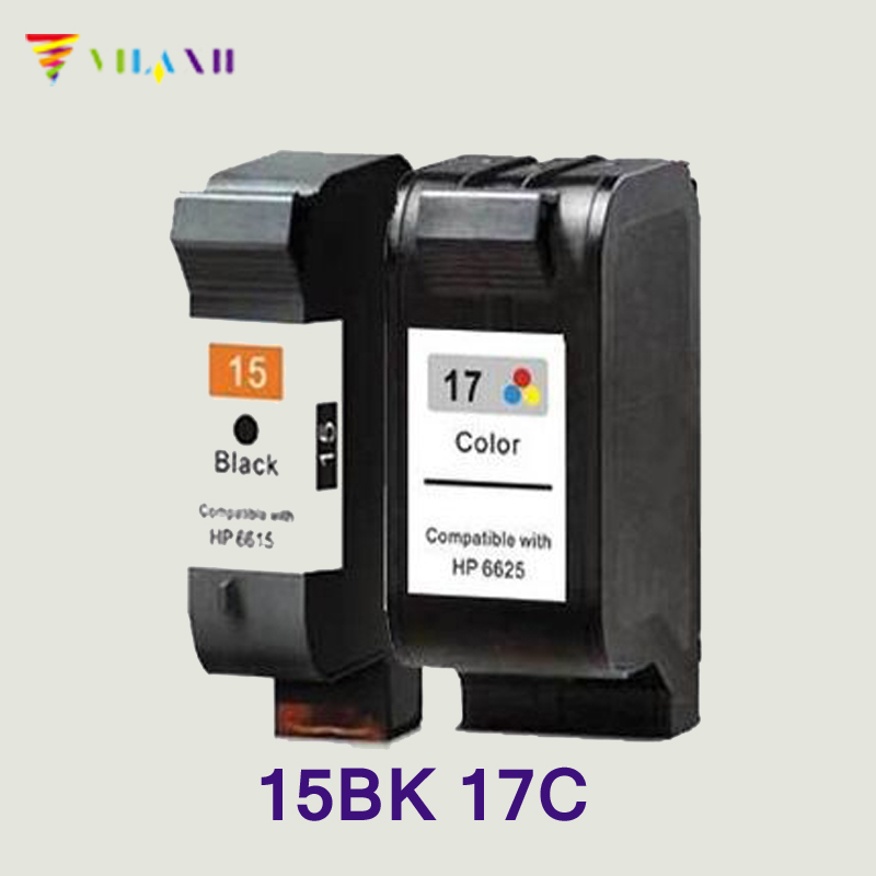 Vilaxh compatible Ink Cartridge 15 17 replacement for hp 15 17 DeskJet 840 15 842 843 845c 2110 7550 2110 3325 5550 printer ink hwdid 56xl 57xl ink cartridge compatible for hp 56 57 c6656a c6657a deskjet 450ci 5550 5552 7150 7350 7000 2100 220 printer