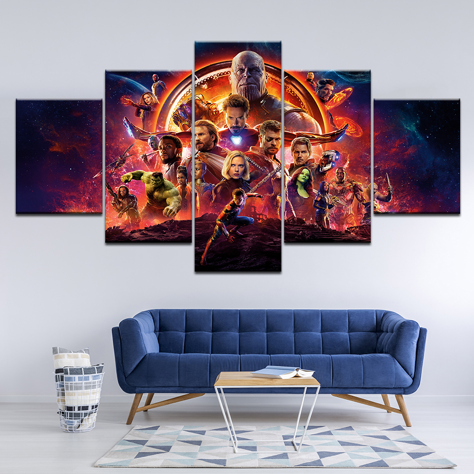 2018 Hot Movie Marvel Avengers Infinity War Poster Canvas Print Painting Home Decoration Wall Art Picture For Living Room