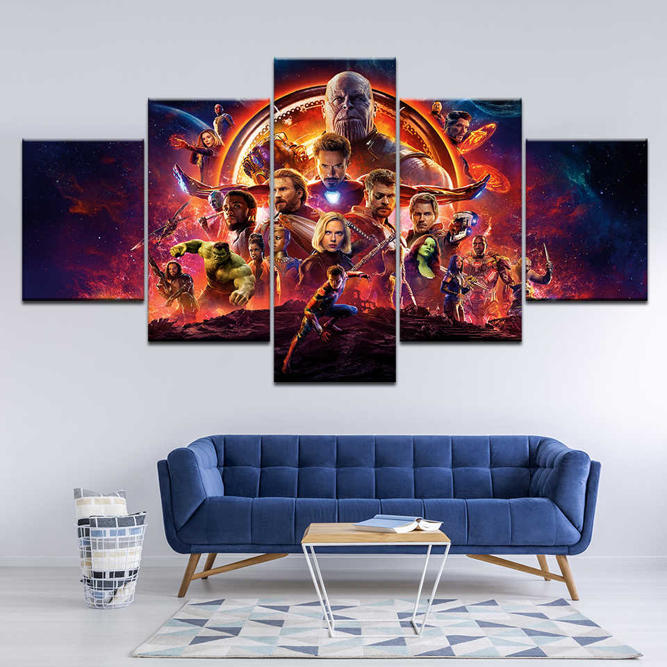 2018 hot movie marvel avengers infinity war poster canvas print painting home decoration wall art picture