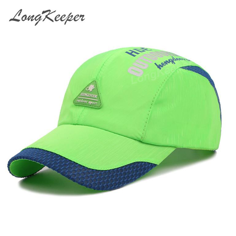 LongKeeper Spring Men Women Snapback   Cap   Quick Dry Summer Visor Hip-Hop Bone Breathable Chapeu Casual   Baseball     Caps   GU17