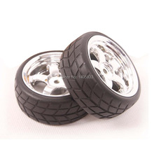 4pcs Tires Rim Wheel for RC 1 10 HSP HPI Traxxas Tamiya On Road Racing Car