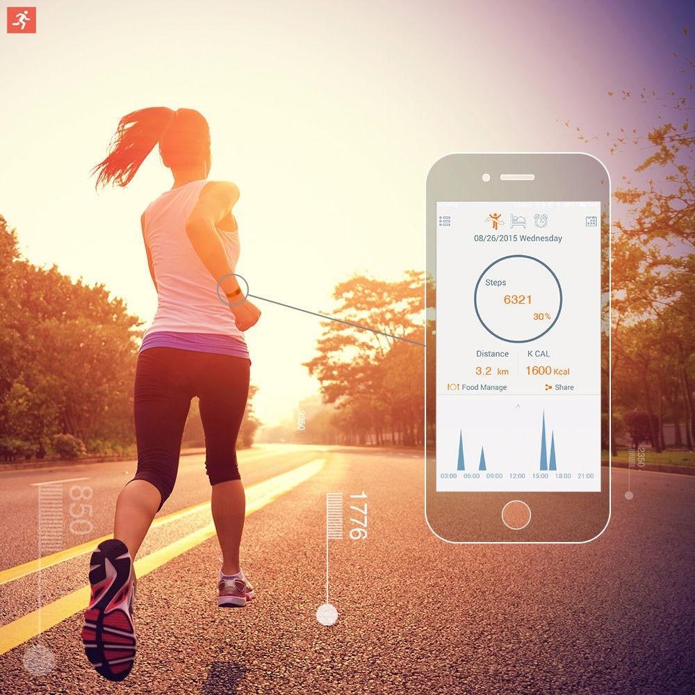 bilder für Smart Handgelenk Band Schlaf Sport Fitness Activity Tracker Pedometer Armbanduhr Neue Kompatibel mit android zu IOS system