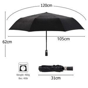 Image 4 - 모조 악어 피부 우산 비 여자 3 접는 Windproof 완전 자동 비즈니스 큰 우산 고품질 남자 우산