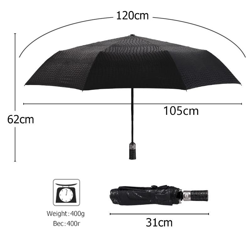 Nachahmung Krokodilhaut Regenschirm Regen Frauen 3Folding Winddicht - Haushaltswaren - Foto 4