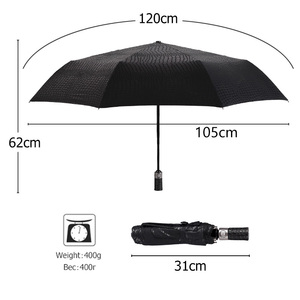 Image 4 - Imitation peau de Crocodile parapluie pluie femmes 3 pliant coupe vent entièrement automatique affaires grand parapluie haute qualité hommes parapluie