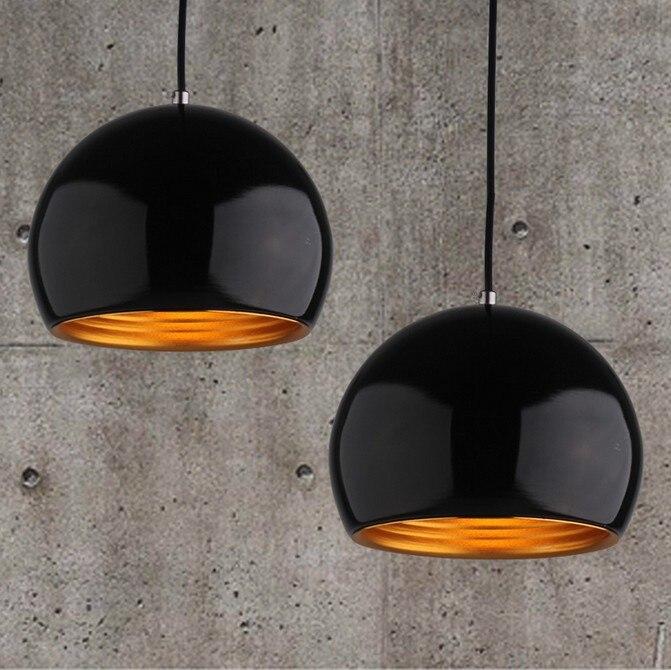 Acquista lampada a sospensione in metallo semplice lampadario palla bar tavolo - Lampada sospensione sopra tavolo altezza ...