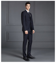 Jacket+pants Slim Fit Business Formal Suits Costume Homme Classic Two Buttons Black Gray Blue Wedding Groom Tuxedo2 Pieces