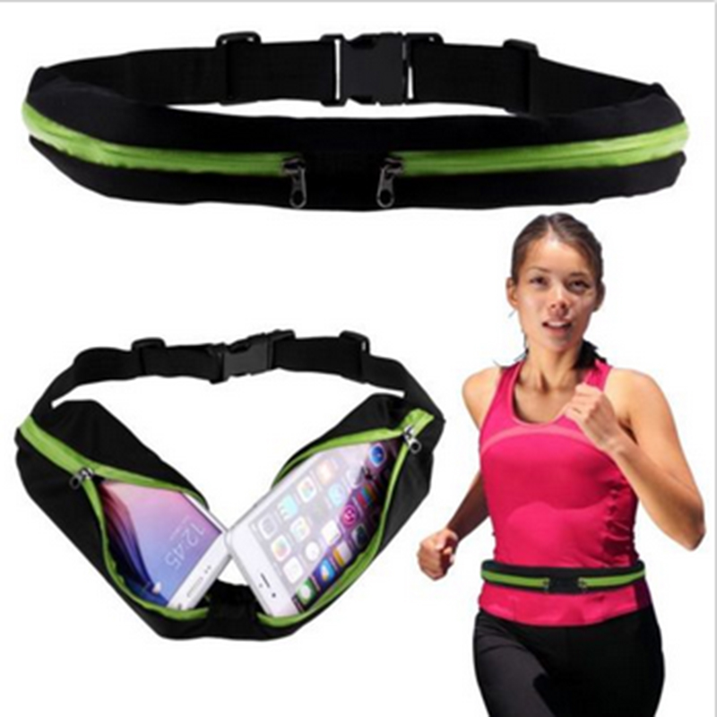 New Outdoor Running Waist Bag Waterproof Mobile Phone Holder Jogging Belt Belly Bag Women Gym Fitness Bag Lady Sport Accessories 19