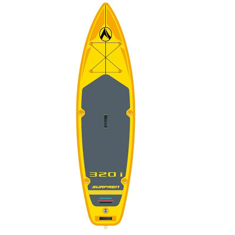 Surf gonflable debout Sup paddle board iSUP Surf paddle board SURFREN tout rond 320i wakeboard kayakboat taille 320*81*15cm