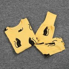 Купить с кэшбэком Retail Hot cartoon children pajamas sets cute boys girls suit blouses + Pants 2-piece set kids sleepwear