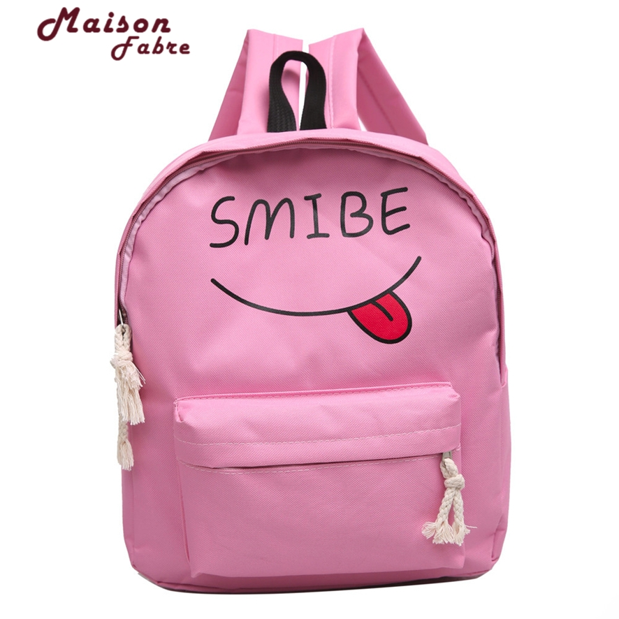 New Women Backpack Female Canvas Students Bag Printing Preppy Style girls School Bag for Youth Shoulder Bag 1012#23