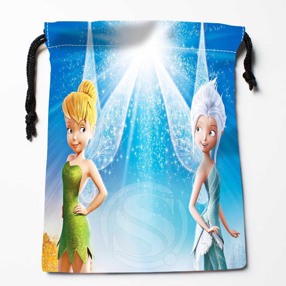TF&27 New Tinker Bell Custom Printed Receive Bag Bag Compression Type Drawstring Bags Size 18X22cm &81#27