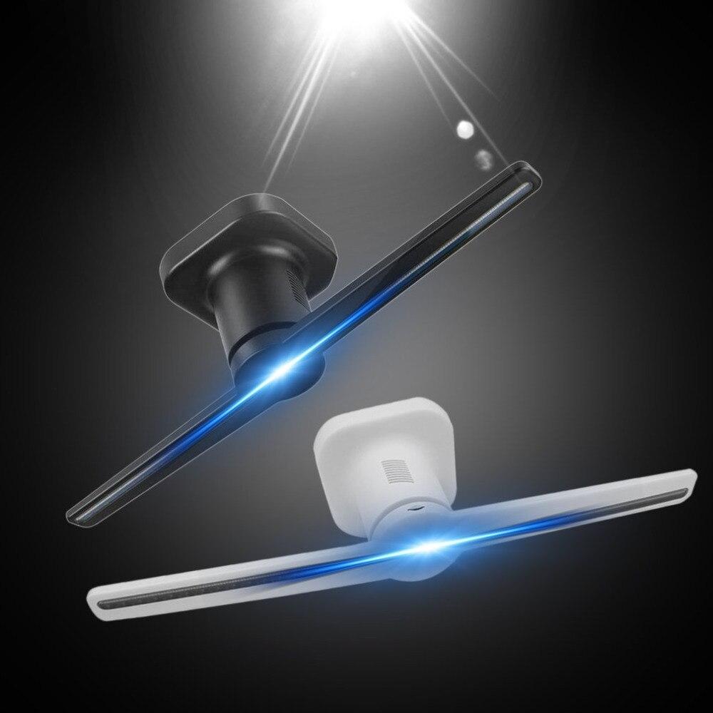 LED Holographique Projecteur Portable Hologramme Lecteur 3D Holographique Dispaly Ventilateur Unique Hologramme Projecteur Noir/Blanc