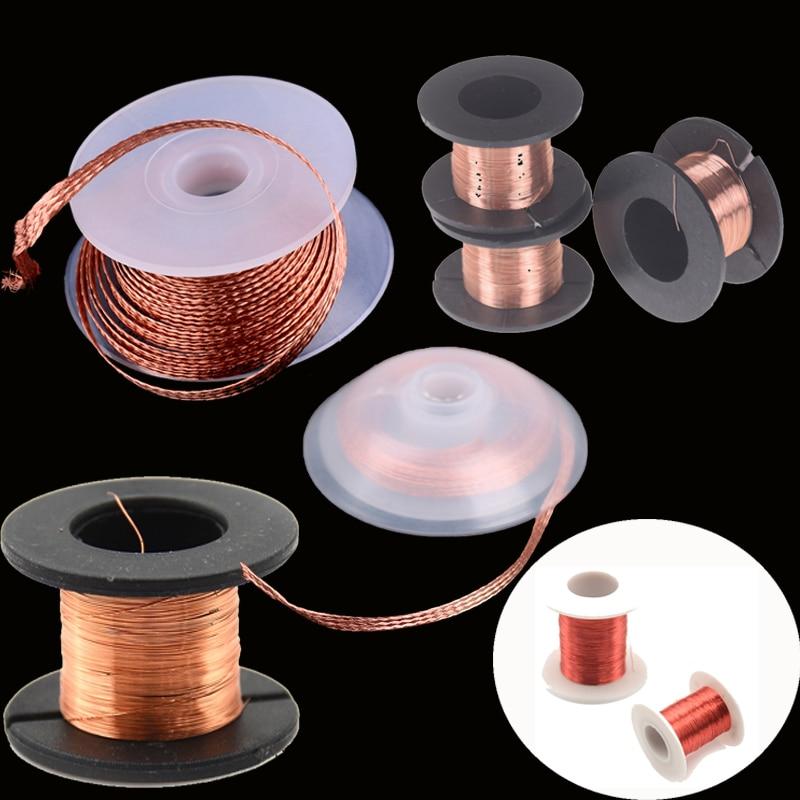 3.5mm 1.5M Desoldering Braid Solder Remover Wick Wire Repair Tool Copper Soldering Solder Enamelled Reel Wire Roll