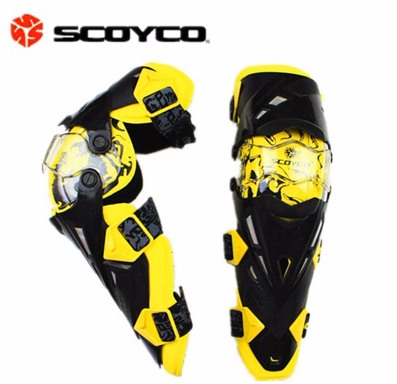 Russia Warehouse Scoyco K12 Motorcycle Knee Protector Guard Gear Motocross Racing Protective Moto Knee pad Motor Bike scoyco k12 motorcycle knee elbow outdoor sports bike bicycles rodilleras motorcross kneepad moto racing protective guard gear