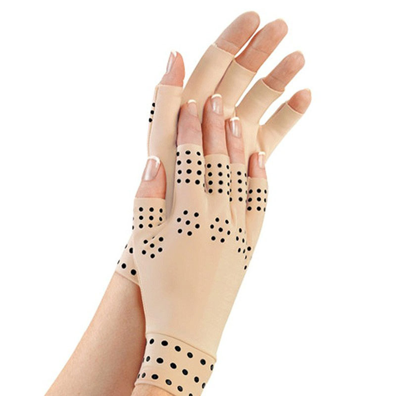 1Pair Arthritis therapy Gloves Relief Arthritis Pressure Pain Heal Joints Magnetic Therapy Gloves for Women Men 2018 Free ship