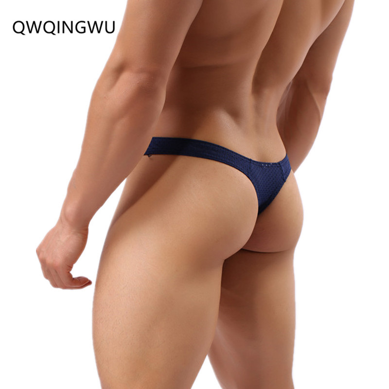 Promotion Men Briefs Penis Pouch Underwear Bulge Underwear Gay Sexy Briefs Low Waist Breathable Hole Men Sunny Boy Briefs Thongs