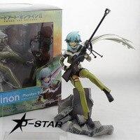 9 Sword Art Online II 2 Gun Gale Online Anime Asada Shino Phantom Bullet Boxed 23cm PVC Action Figure Model Doll Toys Gift