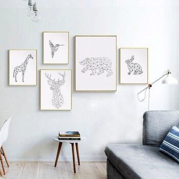 Modern Yaratıcı Geometrik Ağaçkakan Tuval Sanat Baskı Boyama