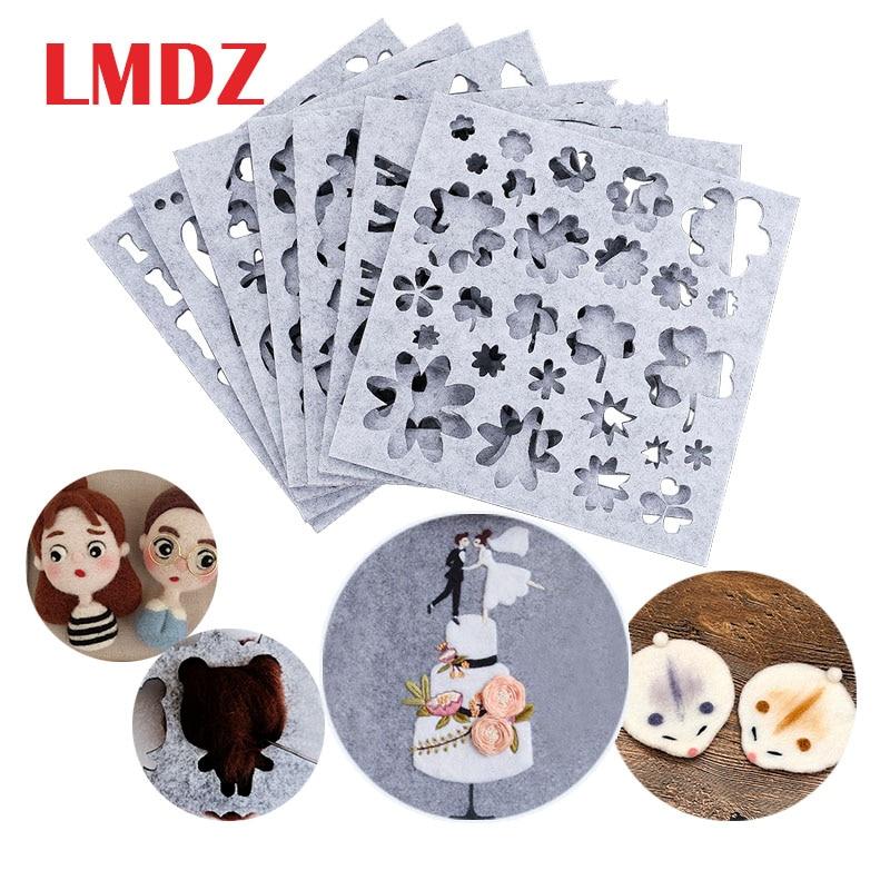 LMDZ 7/5Pcs Set Wool Felting Mold Needle Felt Template DIY Craft Stencil Applique Mold Felt Starter Kit Pattern Woolcraft Supply