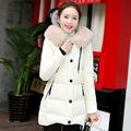 2016 new women winter jacket new Korean hooded jacket cotton big fur collar in the long section of pure cotton boomers