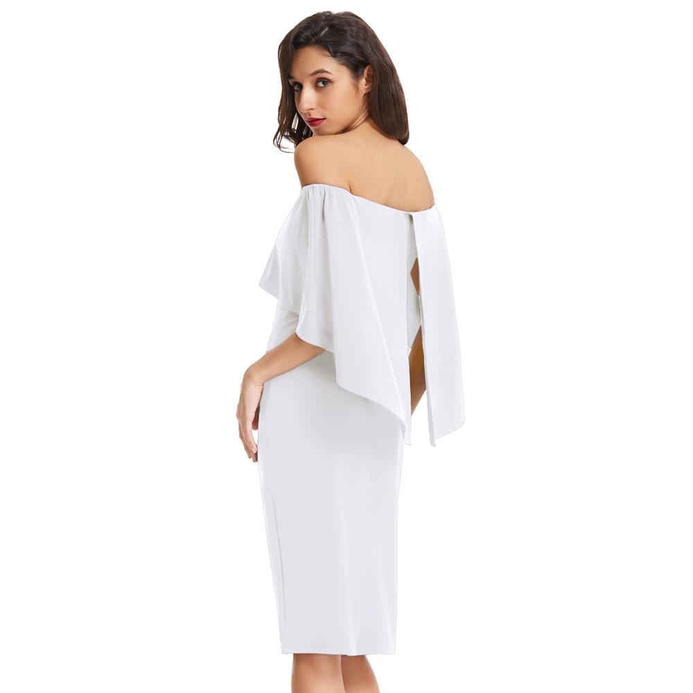 12bf1fbdf8 Grace Karin Off Shoulder Dress Women White Black Bandage Vestidos ...