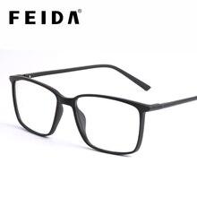 FEIDA Quadrados Óculos de Computador Óculos Anti Luz Azul Bloqueio Olho Claro Vidro Quadros para Os Homens dos homens Retro Anti Azul óculos Ray