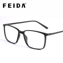FEIDA مربع الكمبيوتر نظارات مكافحة الضوء الأزرق حجب نظارات واضح نظارة عادية إطارات للرجال الرجال الرجعية مكافحة بلو راي نظارات