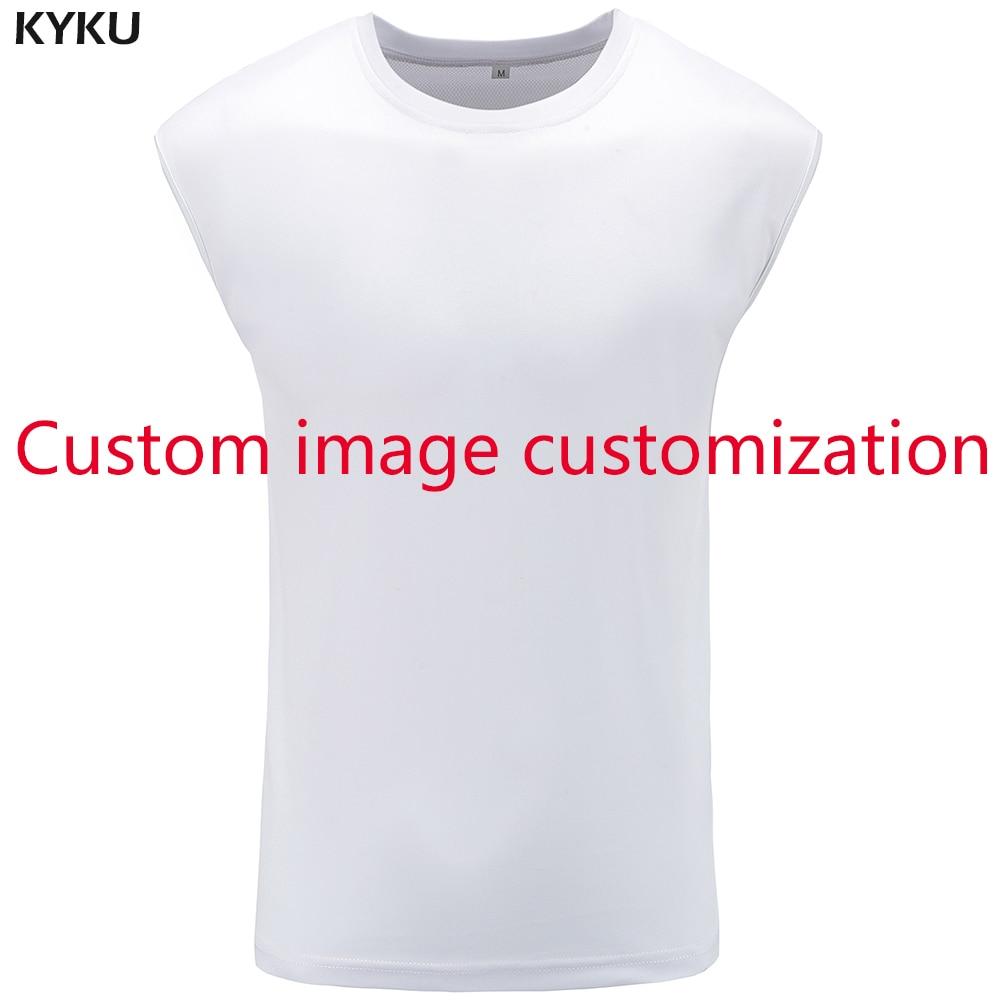 KYKU   Tank     Top   Men Customer Picture Custom Vest S-XXXXXL Singlet Stringer