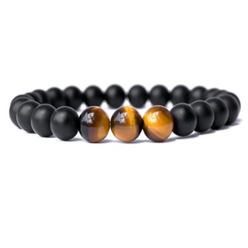 Minimalist Natural Stone Beads Buddha Bracelet Homme Brown Tiger Eyes Yoga Meditation Bracelets For Men Women Hand Jewelry Gifts in Strand Bracelets from Jewelry Accessories