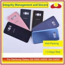10 pièces/lot pour Samsung Galaxy S8 G950 G950F SM G950F boîtier batterie porte arrière en verre housse châssis coque